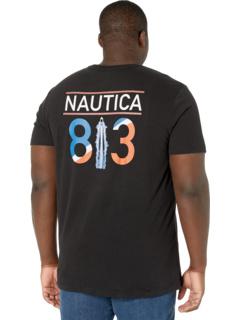 Футболка с коротким рукавом Big & Tall с круглым вырезом Nautica Big & Tall