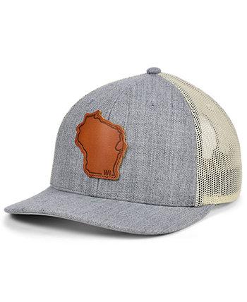 Изогнутая кепка с кожаной нашивкой Local Crowns Wisconsin Heather State Patch Lids