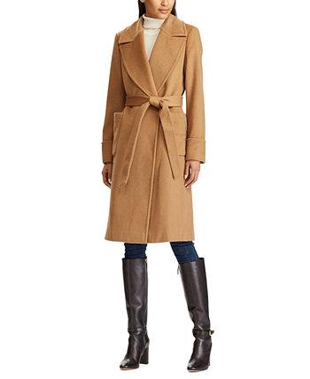 Пальто с запахом из смесовой шерсти Ralph Lauren