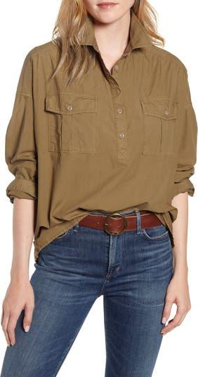 Рубашка оверсайз с карманами ALEX MILL