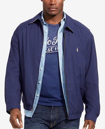 Мужские куртки для больших и высоких размеров, ветровка с двумя качелями Ralph Lauren