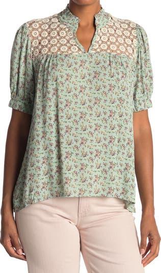 Блуза с кокеткой крючком Everleigh