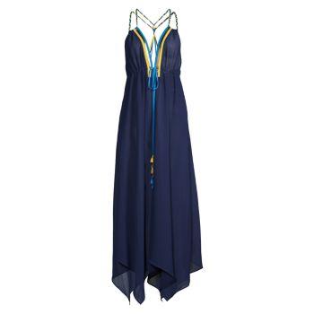 Прозрачное шифоновое платье Jordana Ramy Brook