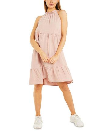 Многослойное платье с завязками на шее Quiz