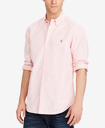 Классическая мужская рубашка с длинным рукавом из массива оксфорда Ralph Lauren