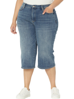 Plus Size Denim Knee Capris in Camille NYDJ Plus Size