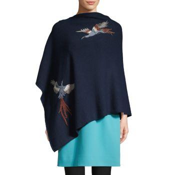 Пончо с вышивкой Bird La Fiorentina