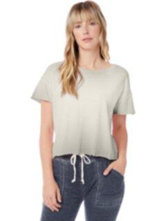 Укороченная футболка с необработанными краями Alternative
