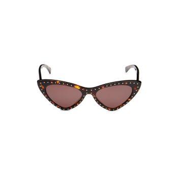 """Солнцезащитные очки """"кошачий глаз"""" с заклепками 52 мм Moschino"""