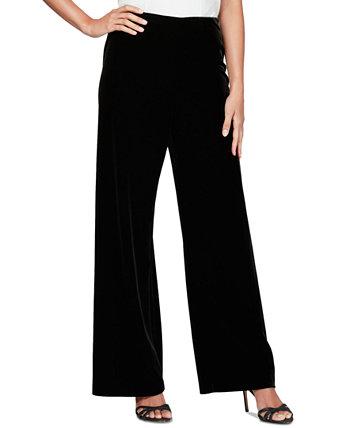 Бархатные брюки Petite с плоской передней частью Alex Evenings