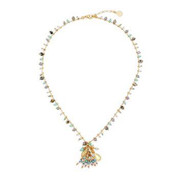 Gipsette с позолотой 24 карат & amp; Ожерелье с подвеской из бисера Gas Bijoux