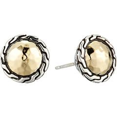 Классические круглые серьги-гвоздики с цепочкой JOHN HARDY