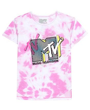 Футболка Big Girls MTV с логотипом и разрезом Disney