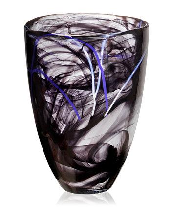 Контрастная 8-дюймовая ваза Kosta Boda