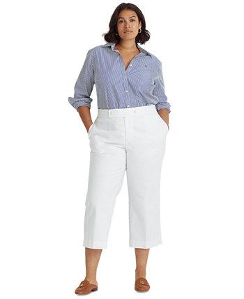 Plus Size Cropped Wide-Leg Pants Ralph Lauren
