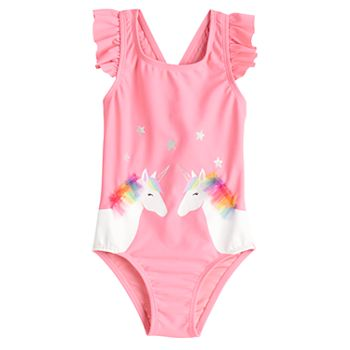 Toddler Girl Jumping Beans® Unicorn One-Piece Swimsuit Jumping Beans