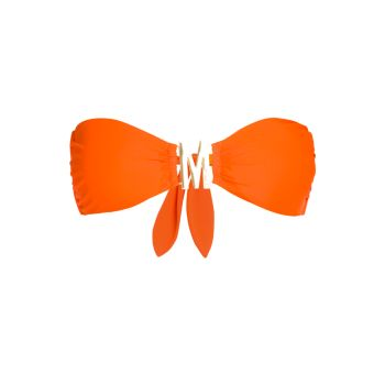 Верх бикини-бандо с подвеской с логотипом Moschino