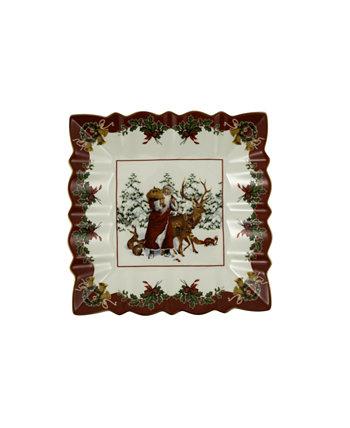 Игрушки Fantasy Square Bowl, Санта с лесными животными Villeroy & Boch