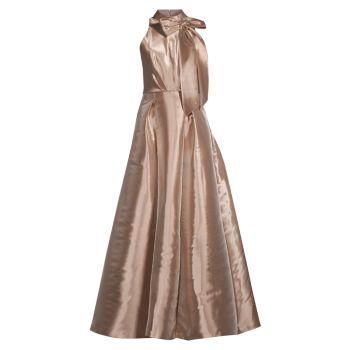 Бальное платье с лямкой на шее Aidan Mattox