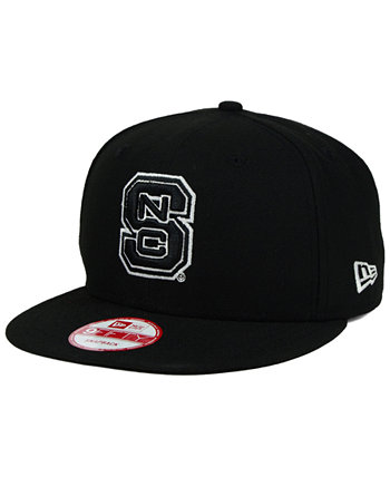 Северная Каролина Стейт Вулфпак Черно-белый 9FIFTY Snapback Cap New Era