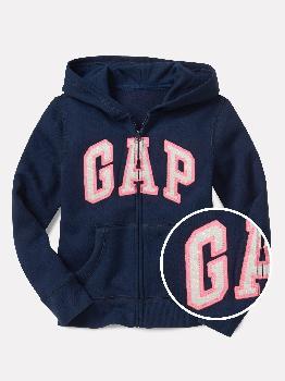 Худи на молнии с логотипом Kids Gap из флиса Gap Factory