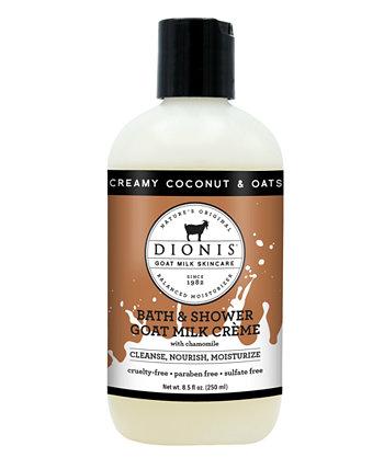 Крем для ванны и душа с козьим молоком, кокосом и овсом, 8,5 унций Dionis