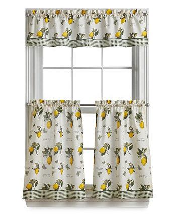 Vintage-Like Lemon Valance and Tiers, Set of 3 Curtainworks