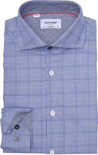 Приталенная классическая рубашка с принтом DUCHAMP