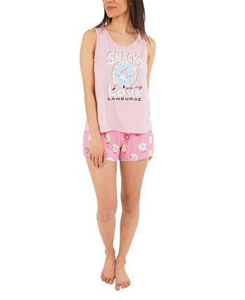Пижамный комплект с майкой и шортами Snack Love Munki Munki