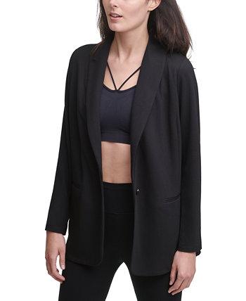 Пиджак на одной пуговице из мягкого трикотажа DKNY
