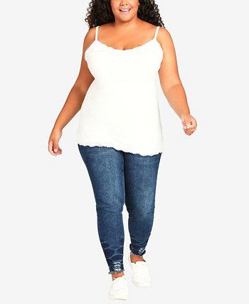 Plus Size Lace Camisole Top AVENUE