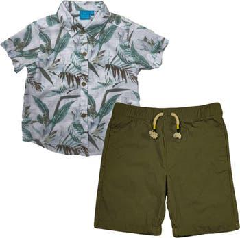 Комплект тропической рубашки и шорт с короткими рукавами BEAR CAMP