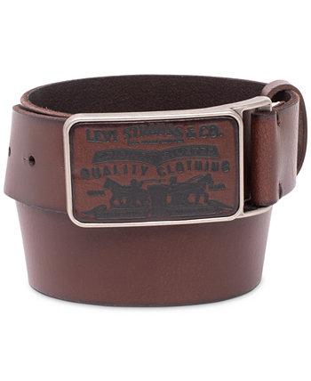 Мужской кожаный ремень с пряжкой и логотипом Levi's®