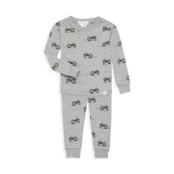 Пижамный комплект из двух предметов с тракторным принтом для маленьких мальчиков Firsts by Petit Lem