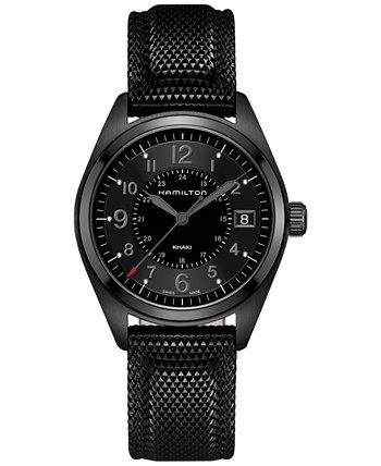 Мужские часы Swiss Khaki Field с черным каучуковым ремешком 40 мм H68401735 Hamilton