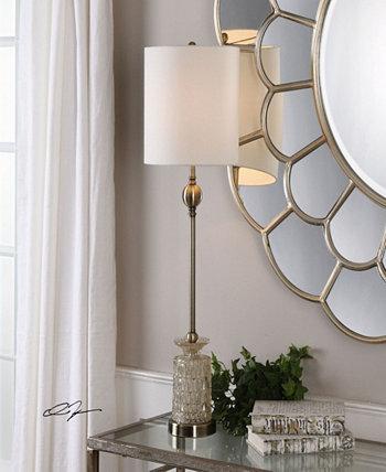 Антикварная латунная лампа для буфета Flaviana Uttermost