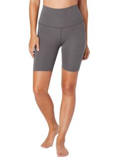 Байкерские шорты с высокой талией Heather Rib Beyond Yoga