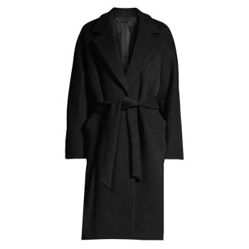 Calissi Double Face Wool-Blend Wrap Coat Elie Tahari