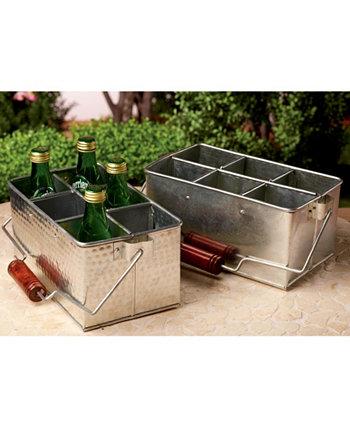 KINDWER Набор из 2 оцинкованных держателей для посуды St. Croix