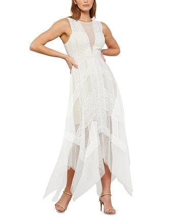 Asymmetrical Lace Dress BCBGMAXAZRIA