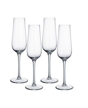 Бокал для шампанского Purismo Special, набор из 4 шт. Villeroy & Boch