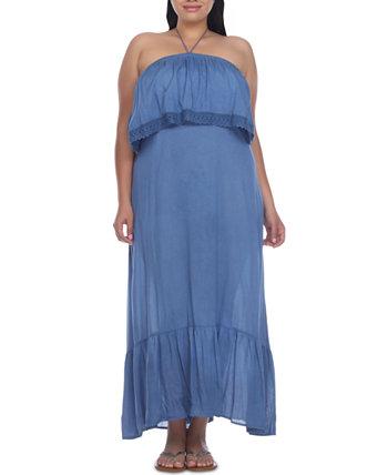 Plus Size Ruffled Cover-Up Dress Raviya