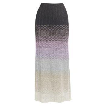 Metallic Zigzag Skirt Missoni