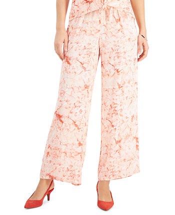 Plus Size Ariana Printed Wide-Leg Pants, Created for Macy's J&M Collection