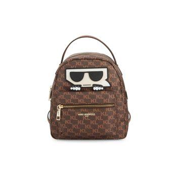 Рюкзак на молнии с логотипом Karl Lagerfeld Paris