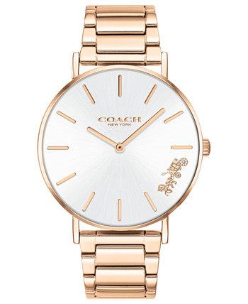 Женские часы Perry с браслетом из нержавеющей стали цвета розового золота, 36 мм COACH