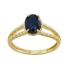 10k Gold Sapphire Twist Ring Tiara