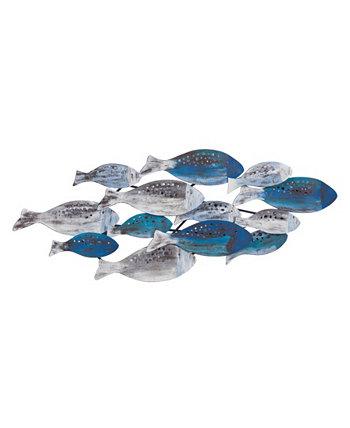 Школа рыб современного искусства стены металла Danya B