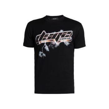 Хлопковая футболка с логотипом Space Cool DSQUARED2
