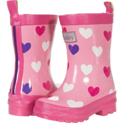 Scattered Hearts Shiny Rain Boots (Toddler/Little Kid) Hatley Kids